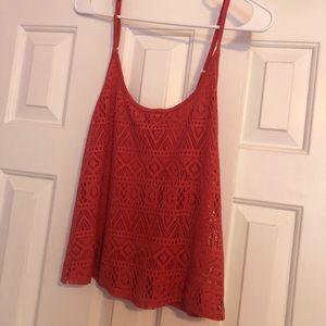 Pink Crochet Adjustable Top